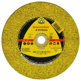 "Disco de corte 230x3x22,23 A24 EXTRA 9"" - KLINGSPOR"